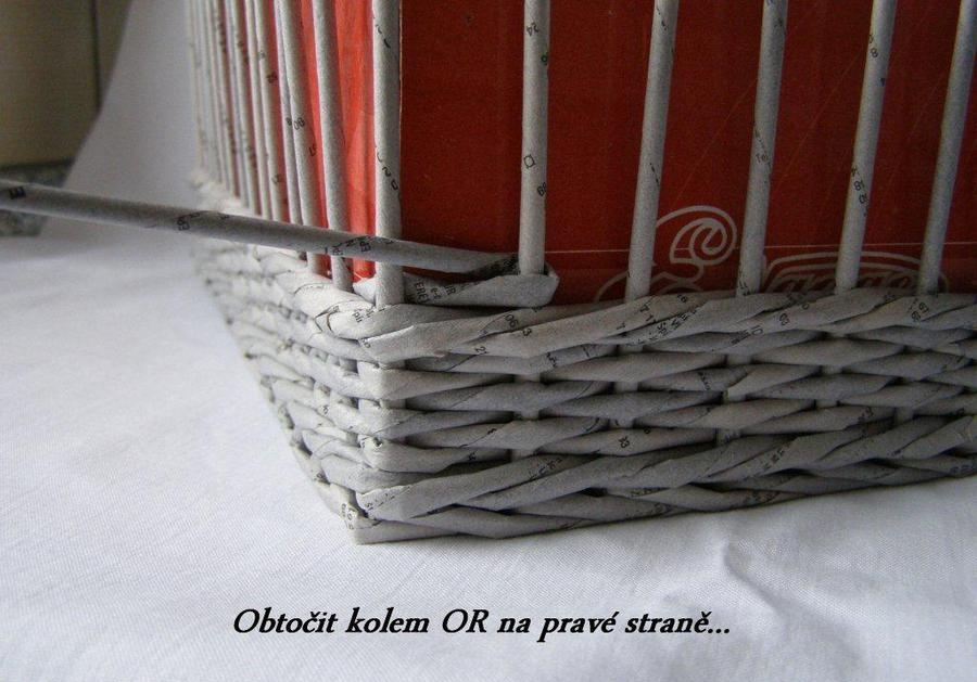 How To Weave A Basket From Old Newspaper : How to weave a unique diy storage basket from old