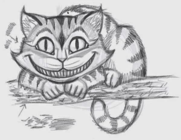 how to draw the cheshire cat easily icreativeideascom