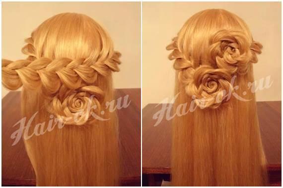 Cool How To Diy Pretty Rose Braids Hairstyle Short Hairstyles Gunalazisus
