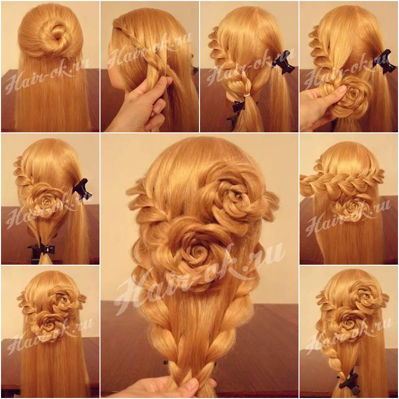 Outstanding How To Diy Pretty Rose Braids Hairstyle Short Hairstyles Gunalazisus