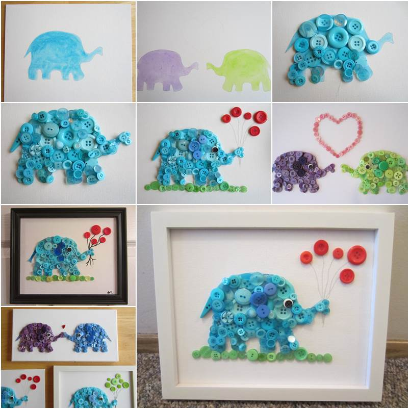 How To Diy Adorable Elephant Button Crafts