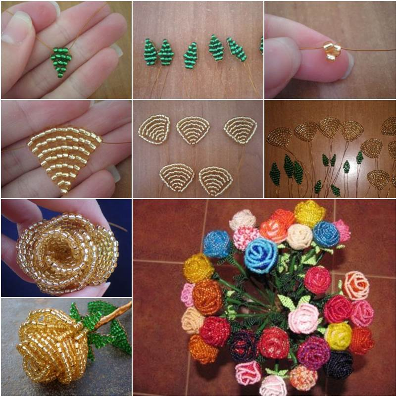 How To Make Beautiful Flowers From Wire And Thread