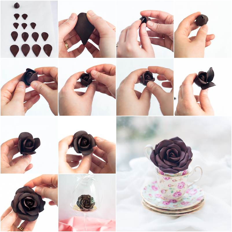 Cake Decorating Ideas With Modeling Chocolate : How to DIY Beautiful Modeling Chocolate Roses