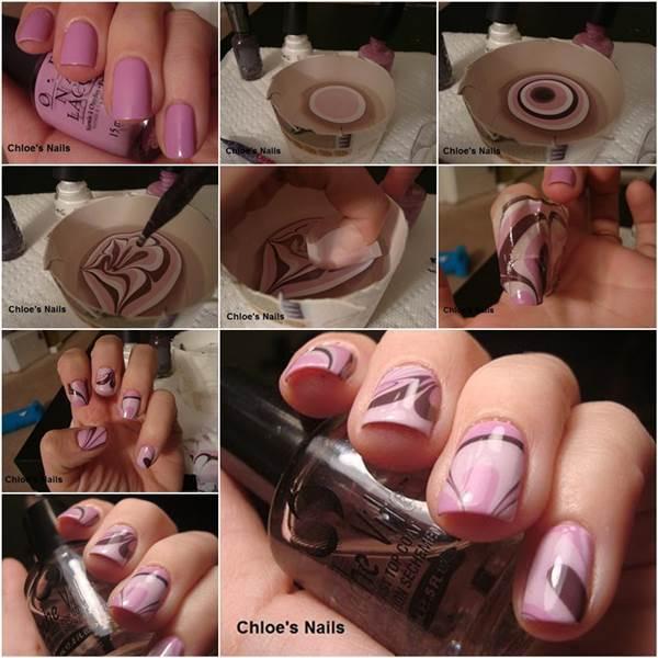 How to DIY Beautiful Water Marble Nail Art