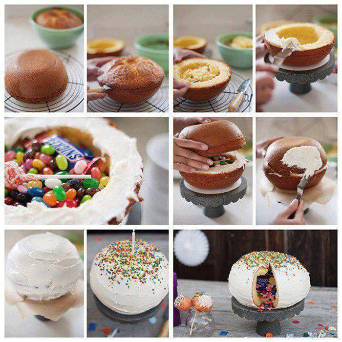 How To DIY Candy-Filled Surprise Cake