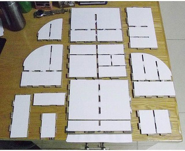 How to diy cardboard desktop organizer with drawers for How to make a dresser out of cardboard