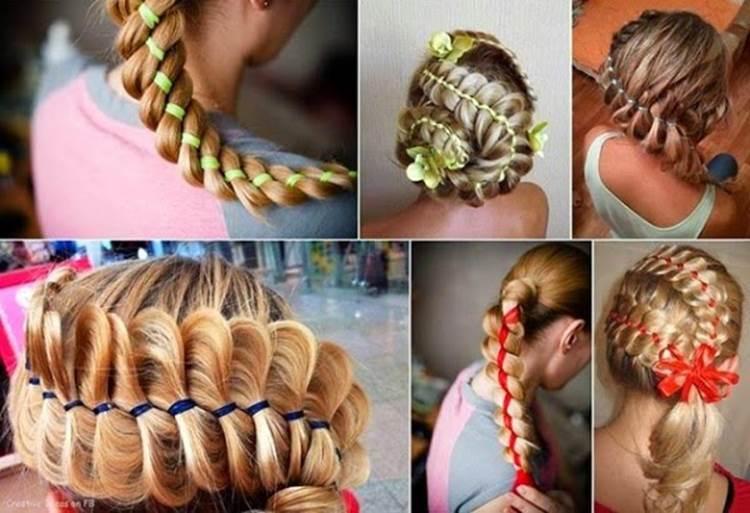 Surprising How To Diy Four Strand Ribbon Braid Hairstyle Short Hairstyles Gunalazisus