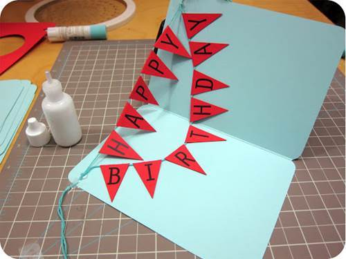 How to DIY Happy Birthday Banner and Balloon Card 20