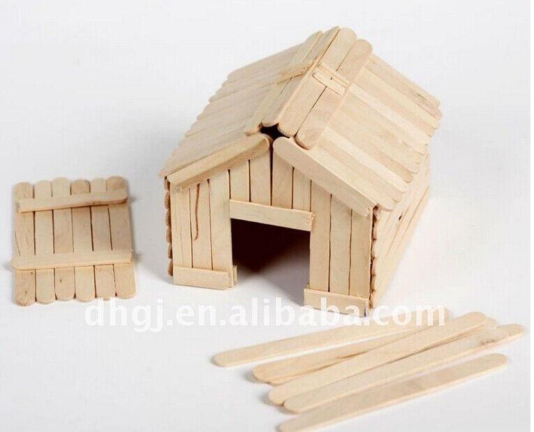 How to DIY Popsicle Stick House | iCreativeIdeas.com