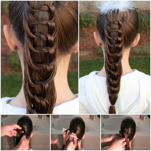 Wondrous How To Diy Pretty Knotted Ponytail Hairstyle Short Hairstyles Gunalazisus