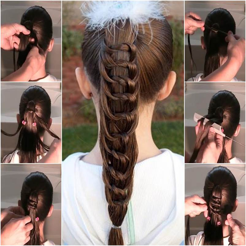 Super How To Diy Pretty Knotted Ponytail Hairstyle Short Hairstyles Gunalazisus