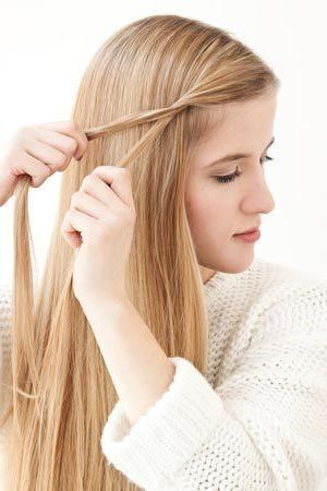 how to diy simple side braid hairstyle