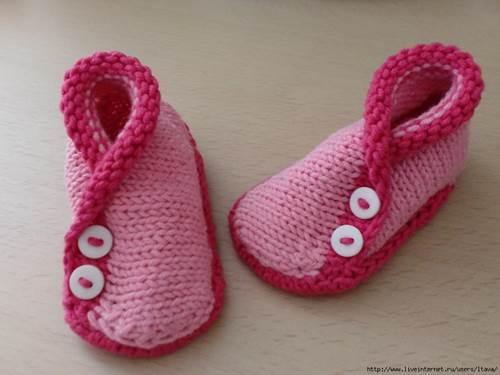Diy Adorable Knitted Kimono Baby Booties Icreativeideas Com