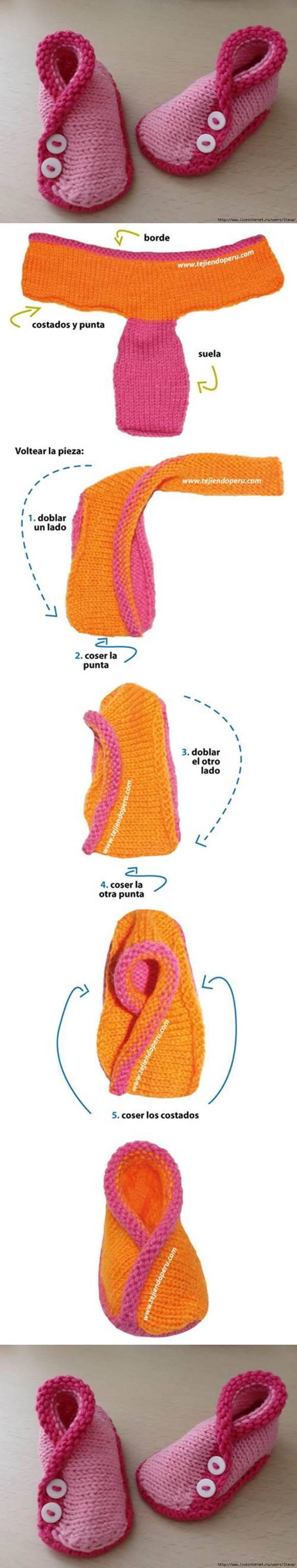 Baby Kimono Booties Knitting Pattern : DIY Adorable Knitted Kimono Baby Booties