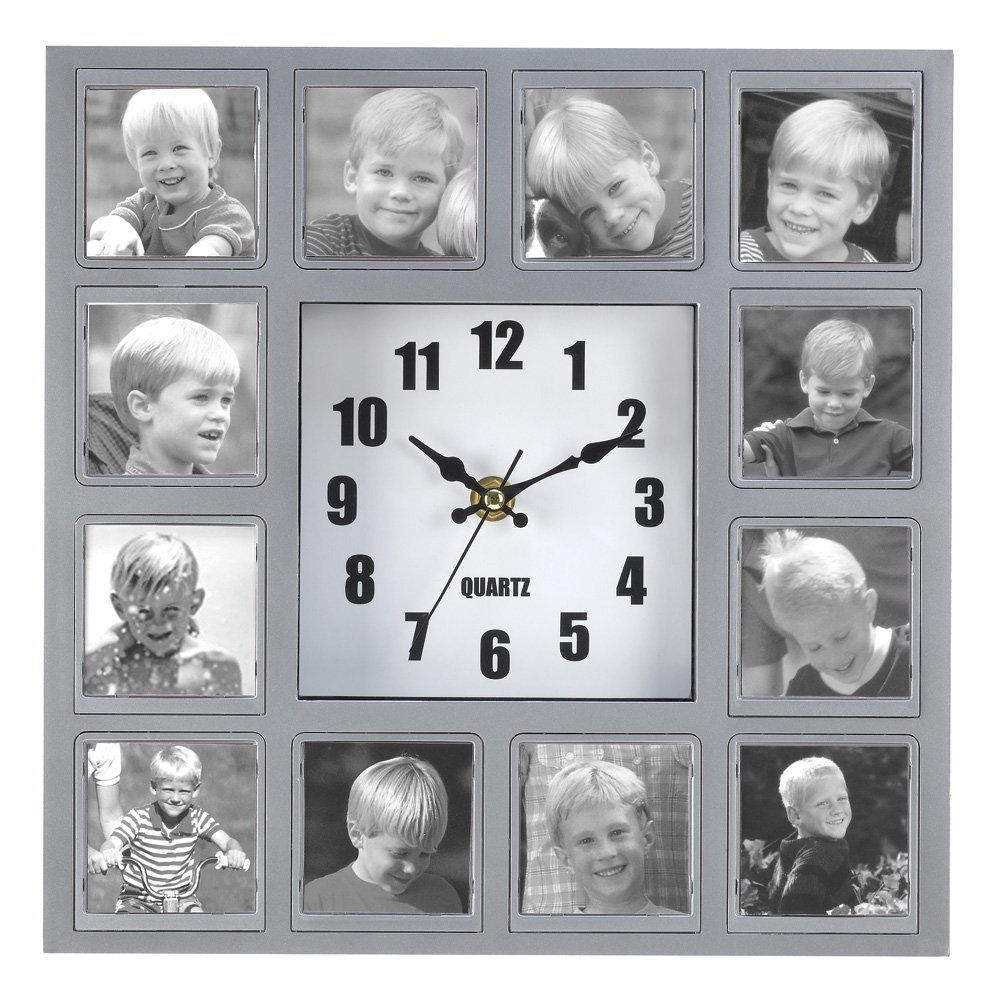 how to diy creative photo frame wall clock 3