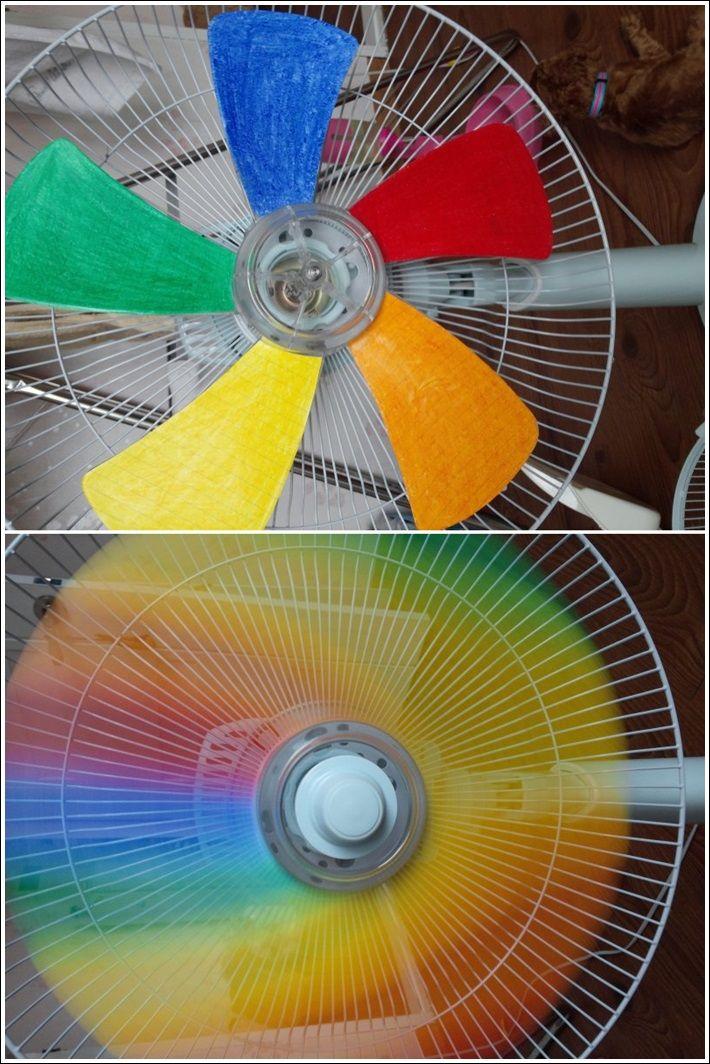 How to DIY Creative Rainbow Fan 7