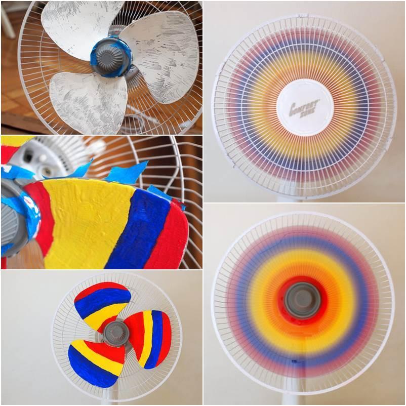 How to DIY Creative Rainbow Fan