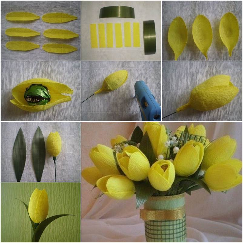 How to DIY Delicate Crepe Paper Tulips