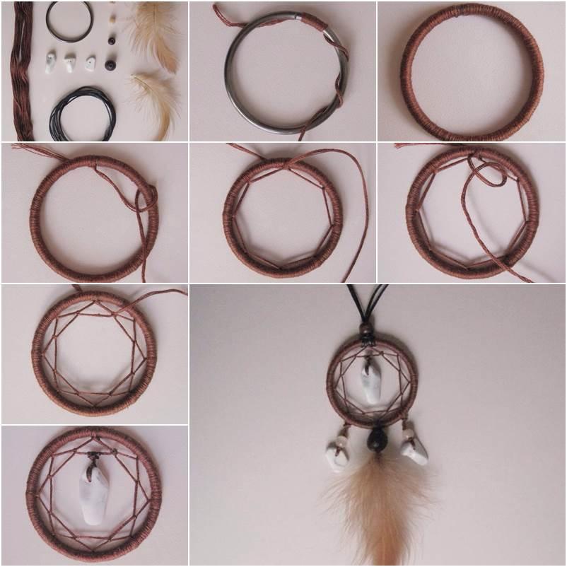 How to diy dreamcatcher pendant for How do u make a dreamcatcher