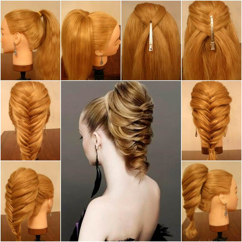 Diy Braided Hairstyles: How To DIY Elegant Braided Fishtail Hairstyle