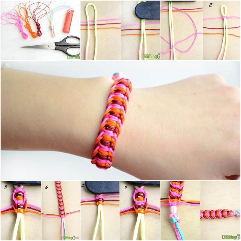 Diy Stylish Square Knot Macrame Bracelet Icreativeideas Com