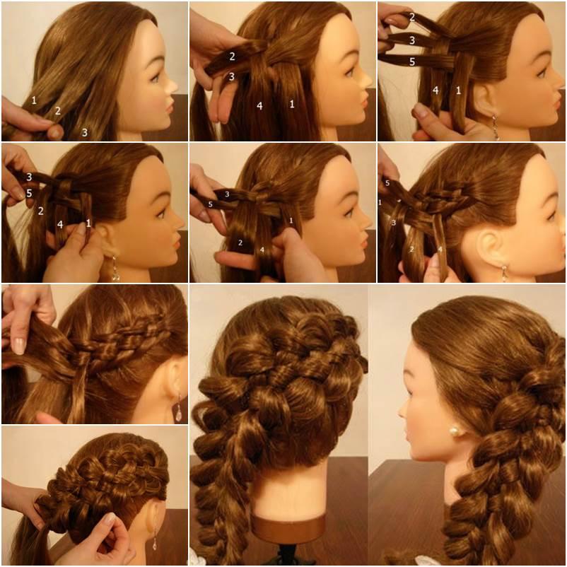 Enjoyable How To Weave Five Strand Diagonal French Braid Hairstyle Short Hairstyles Gunalazisus
