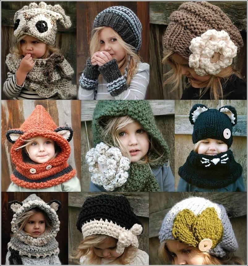 Оригинальные вязанные шапки своими руками