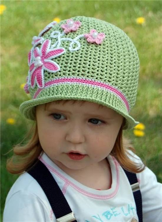 Creative DIY Adorable Crochet Flower Hats for Little Girls ...