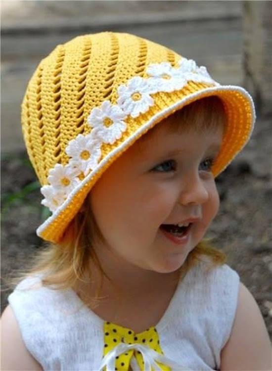 Creative Diy Adorable Crochet Flower Hats For Little Girls Icreativeideas Com