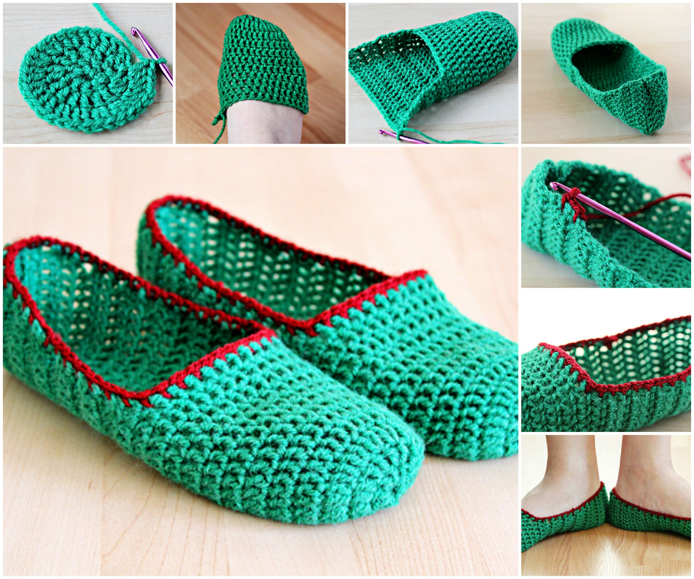 Creative diy simple crochet slippers for Creative simple