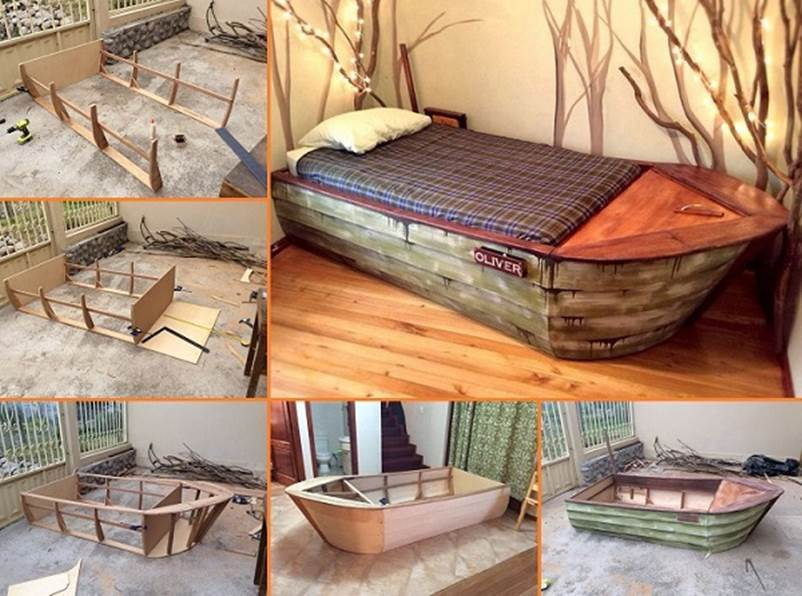 Creative Ideas - DIY Amazing Boat Bed