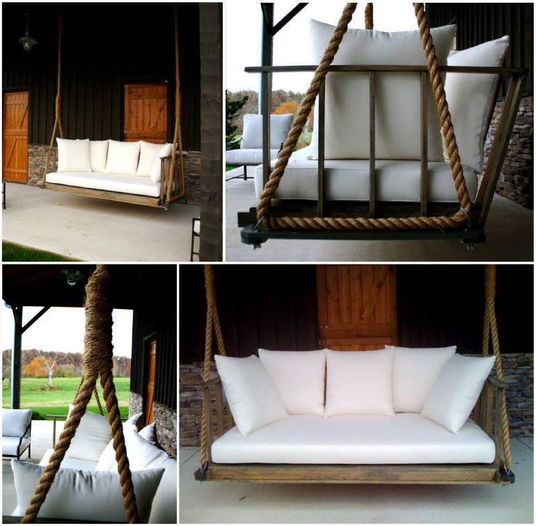 Outdoor Smart And Creative Design Front Porch Ideas: Creative Ideas - DIY Giant Porch Swing