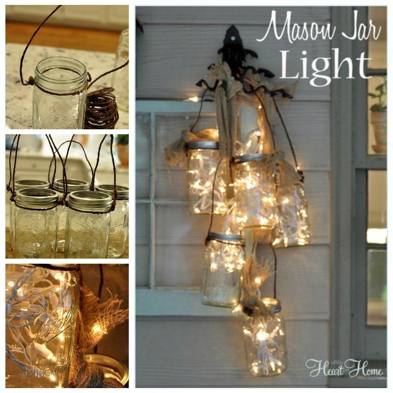 Creative Ideas - DIY Mason Jar Light