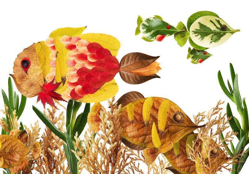 35 Creative Leaf Animal Art