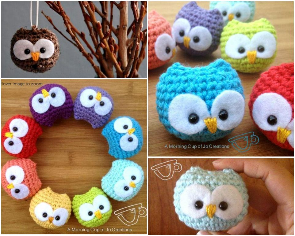DIY Adorable Crochet Baby Owls