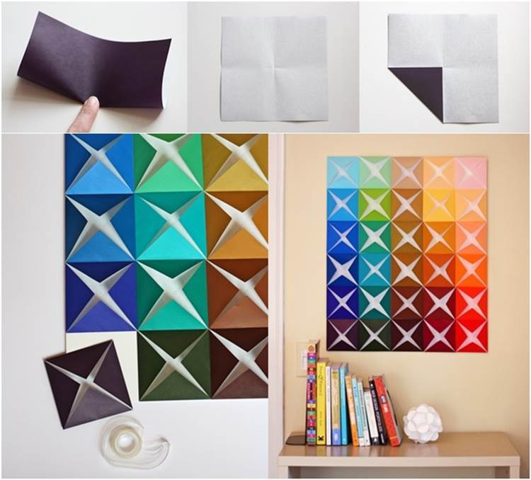 Diy Easy Folded Paper Wall Art