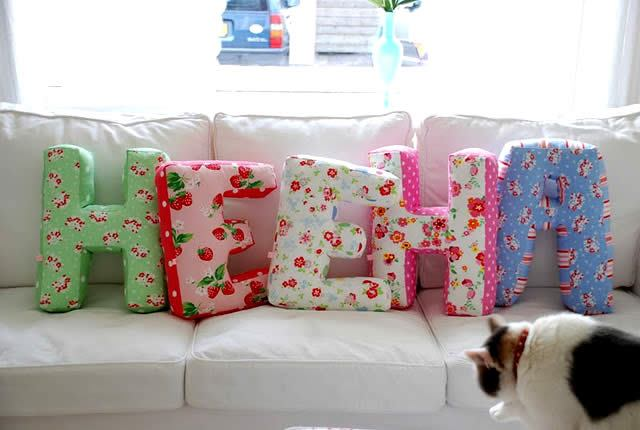 diy fabric alphabet letter cushion 10