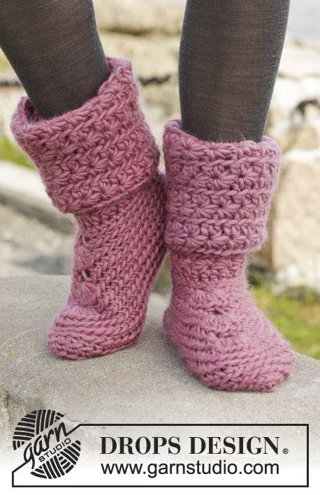 Free Crochet Pattern For Cozy Slipper Boots : 6 Stylish Knitted and Crochet Slipper Boots FREE Patterns