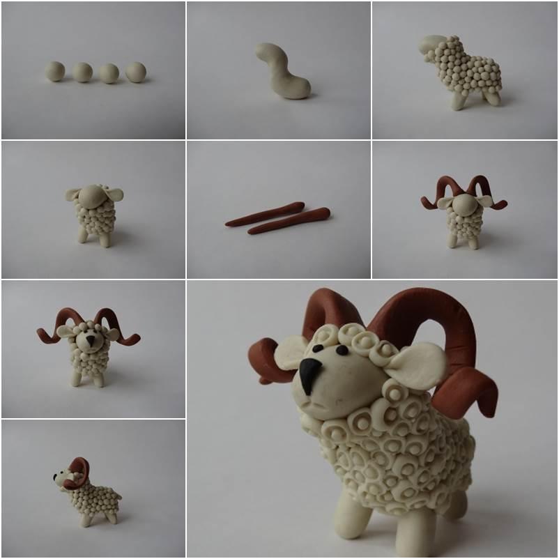 Creative Ideas - DIY Adorable Polymer Clay Sheep