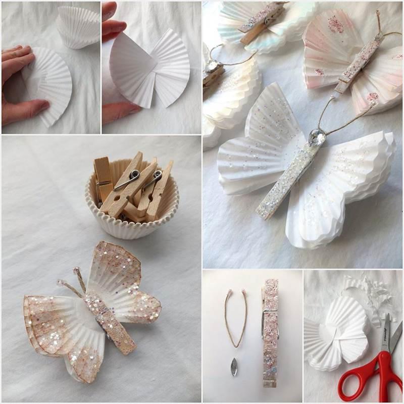 Creative Ideas - DIY Beautiful Butterflies from Cupcake Liners