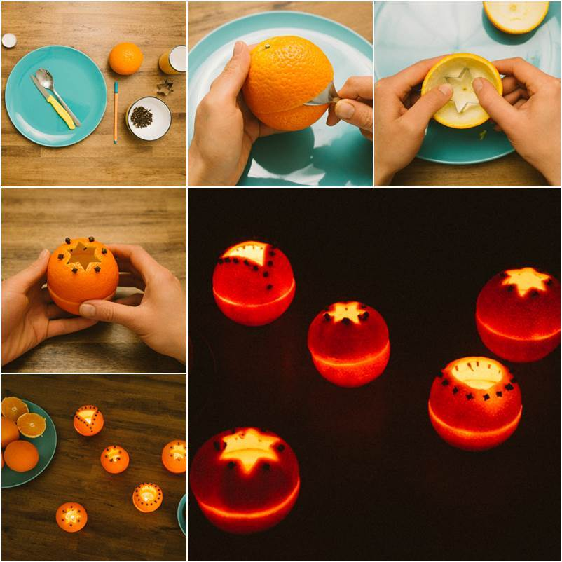 Creative Ideas - DIY Cute Orange Rind Lanterns