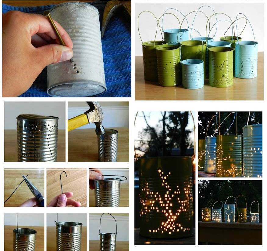 creative ideas diy cute tin can lanterns