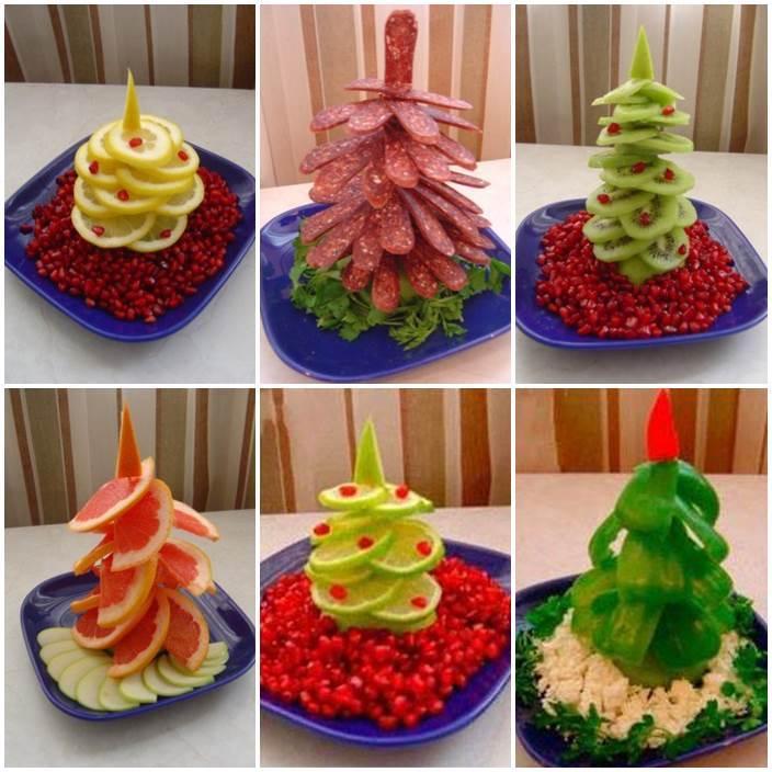 Creative ideas diy fruit and vegetable christmas tree for Xmas creative ideas