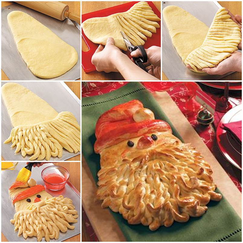 Creative Ideas - DIY Golden Delicious Santa Bread
