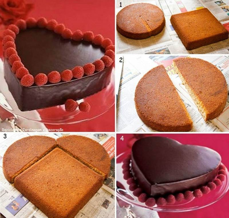 Creative Ideas - DIY Heart-Shaped Cake without a Heart ...