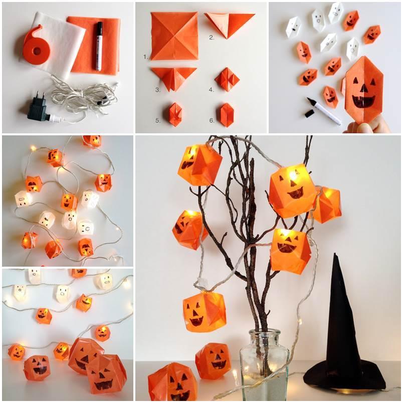 Creative ideas diy origami halloween lanterns - Interesting halloween ideas home ...