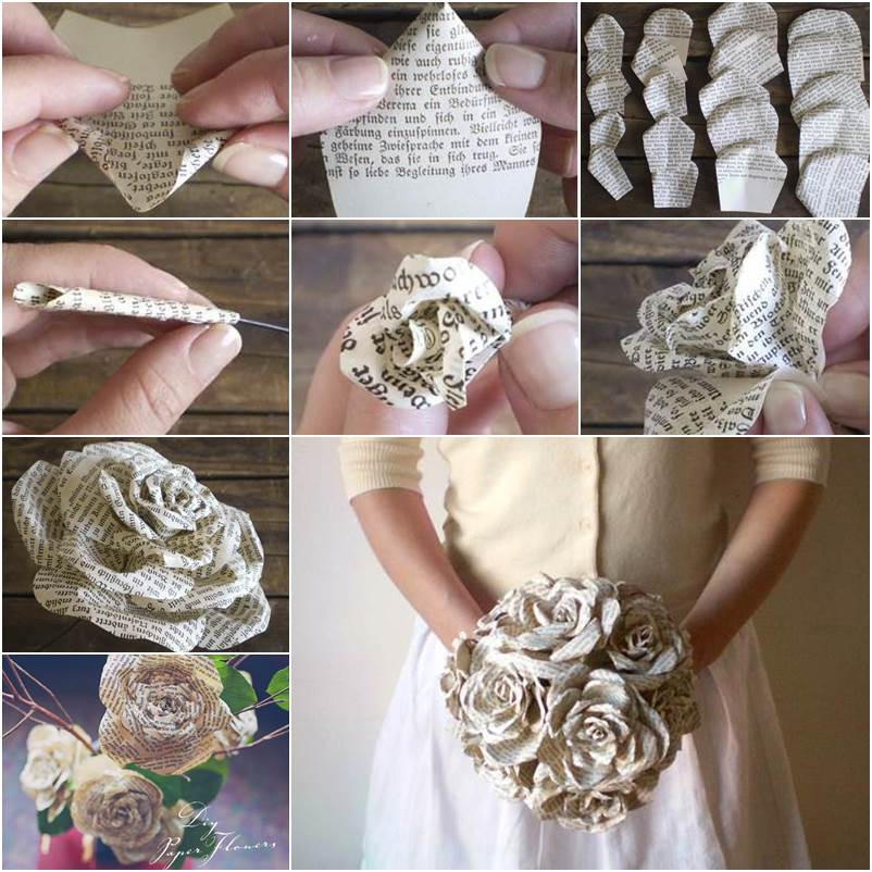 Creative Ideas Diy Paper Roses From Storybook Pages