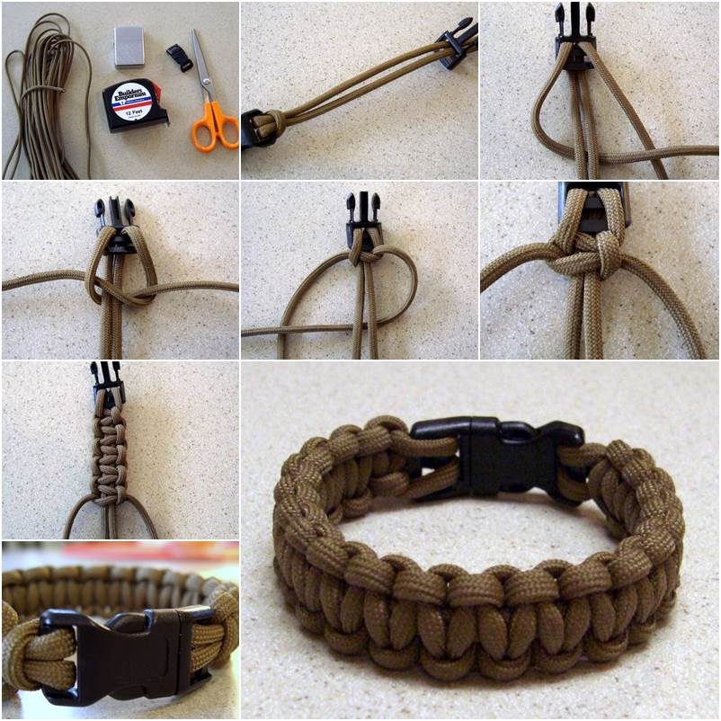 Creative Ideas Diy Paracord Bracelet With Side Release Buckle