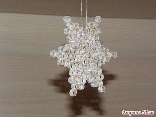 Creative Ideas Diy Pasta Snowflake Ornaments