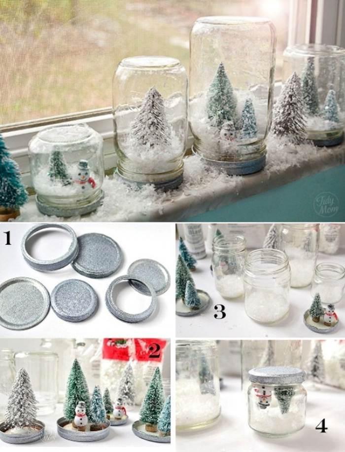 Creative Ideas - DIY Waterless Snow Globes for Christmas